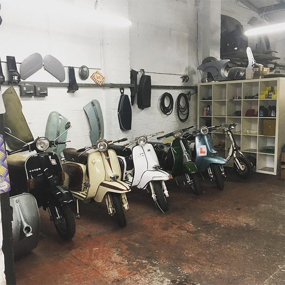 Vespa and Lambretta Restoration and Repair Workshop